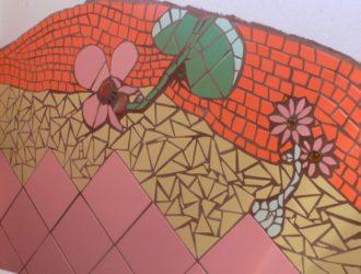 Mozaiková koupelna sousedící s vzorkovnou 3